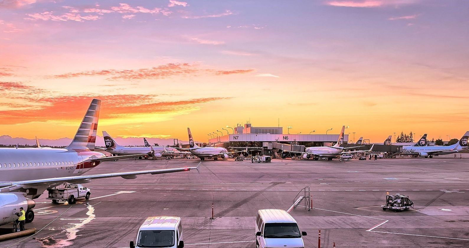 שהיית מטוסים בשדה תעופה גדול