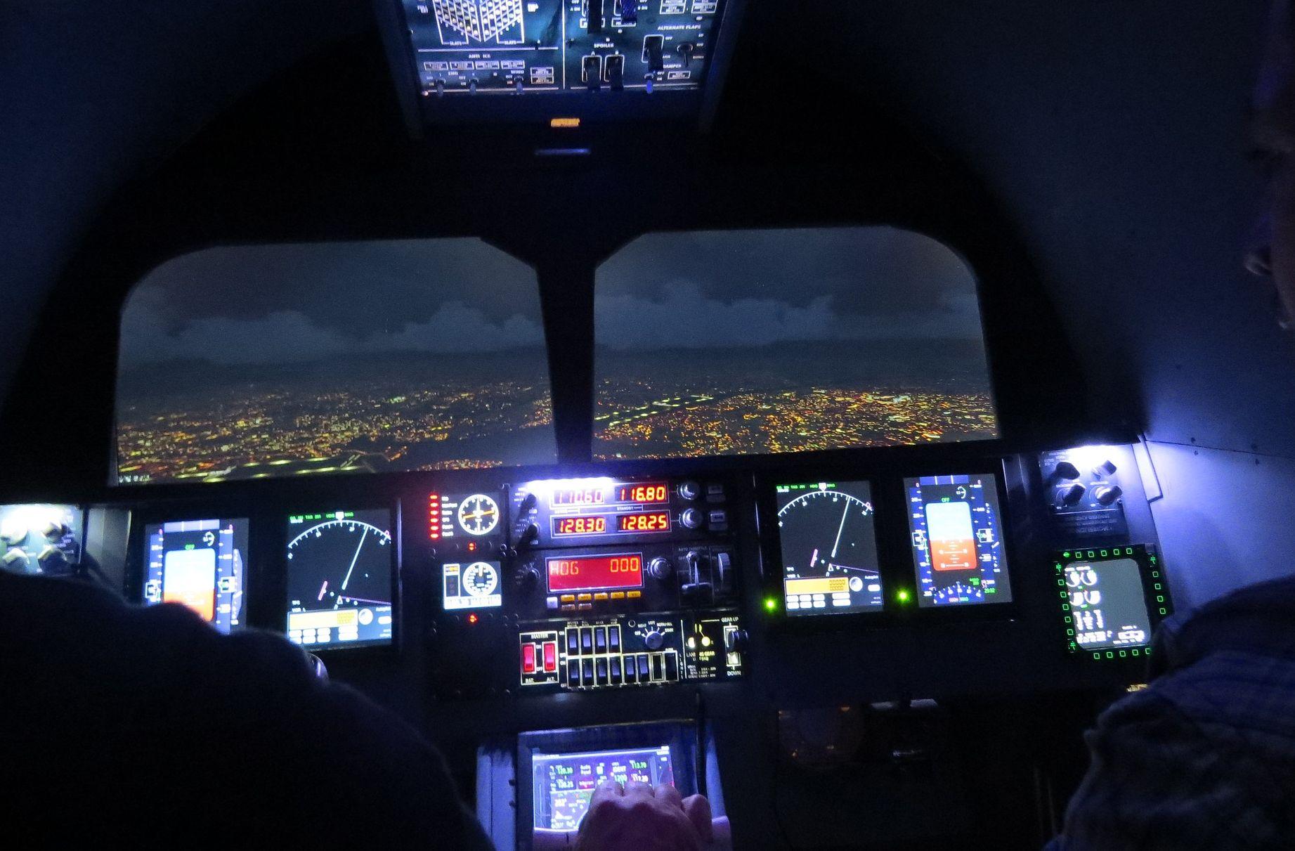 טיסת חוויה בלילה