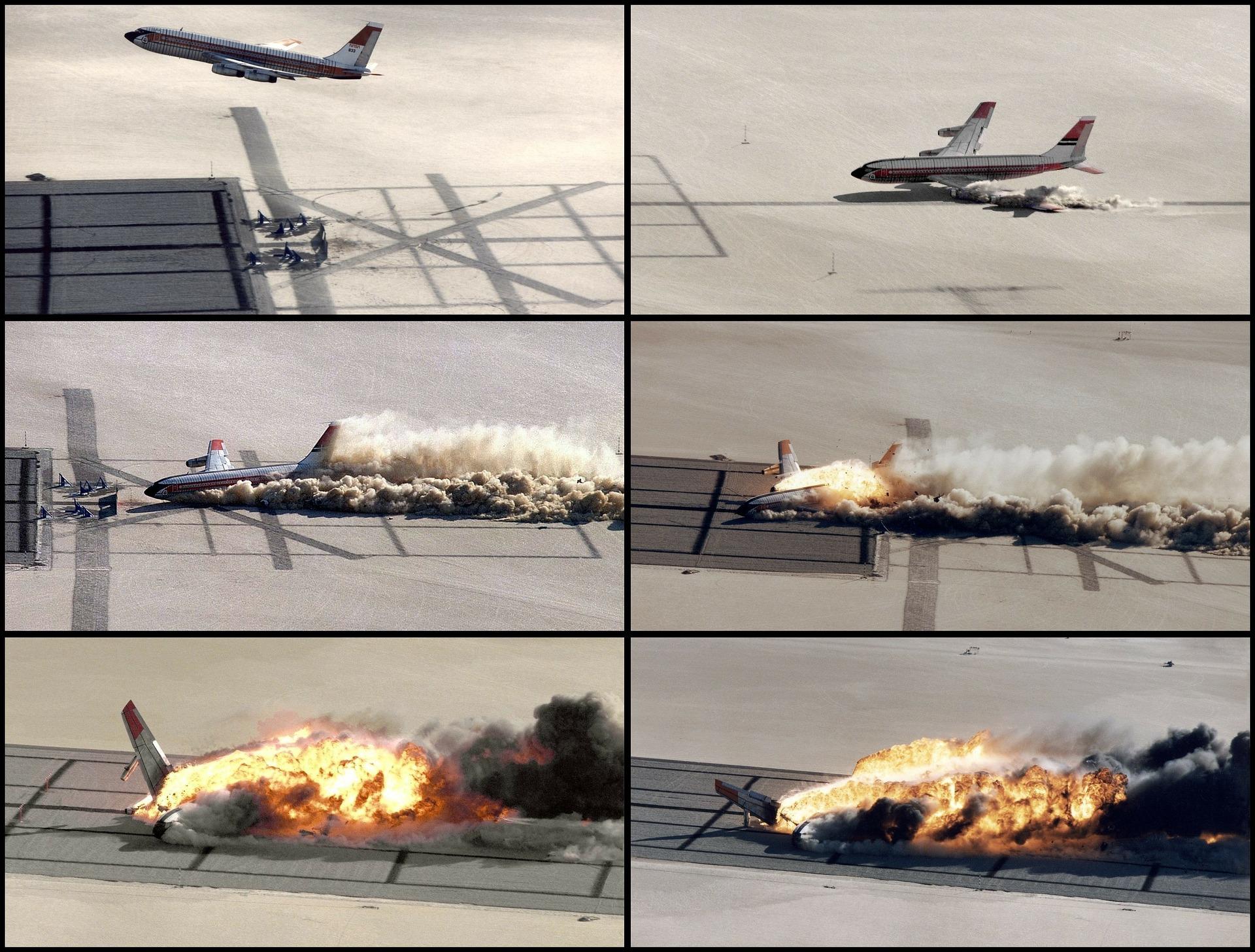 שלבי התרסקות מטוס בשדה תעופה